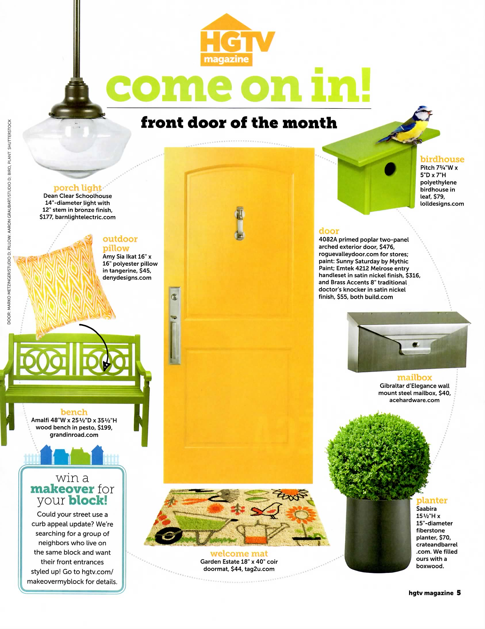 Hgtv Magazine Front Door Of The Month Emtek Products Inc