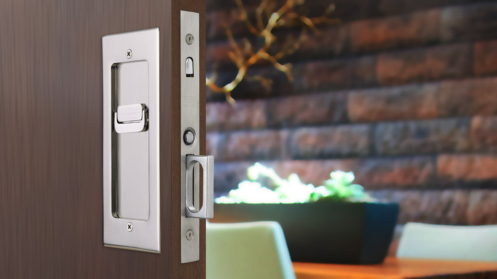 & Modern Rectangular Pocket Door Mortise Lock | Emtek Products Inc. Pezcame.Com