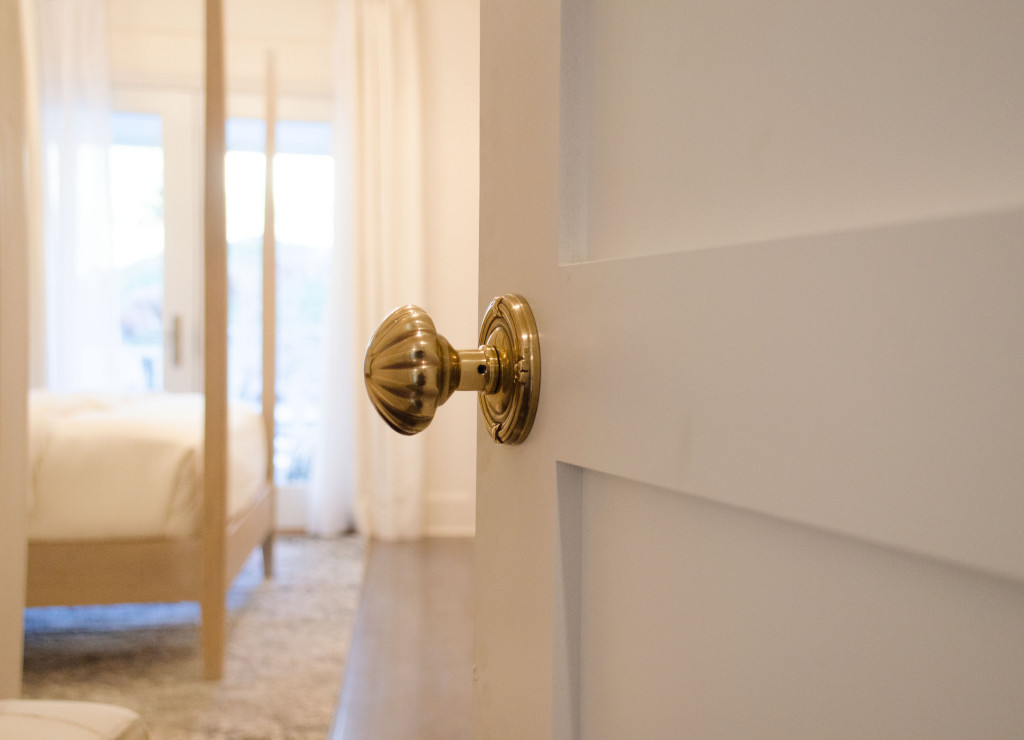 Emtek Melon Knob in French Antique used in American Dream Builders with Nate Berkus.