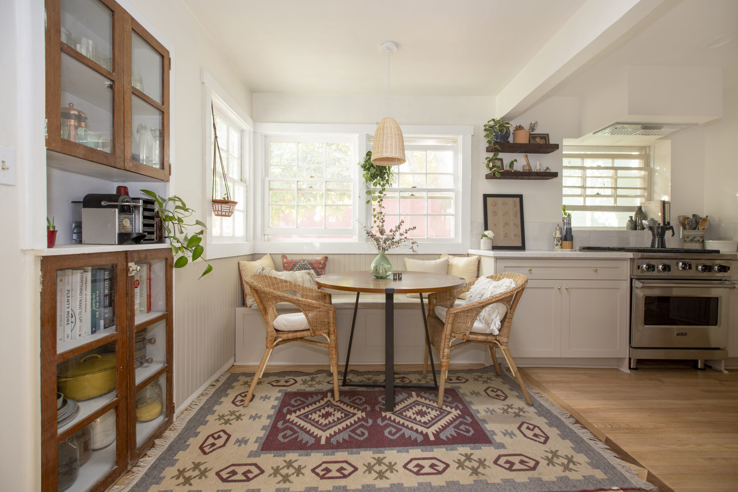 Breakfast nook in transitional home