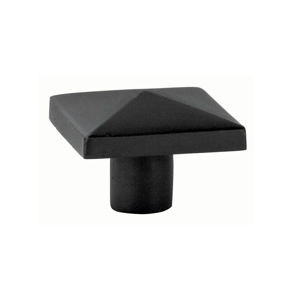 Charmant Sandcast Bronze Square Cabinet Knob In Flat Black