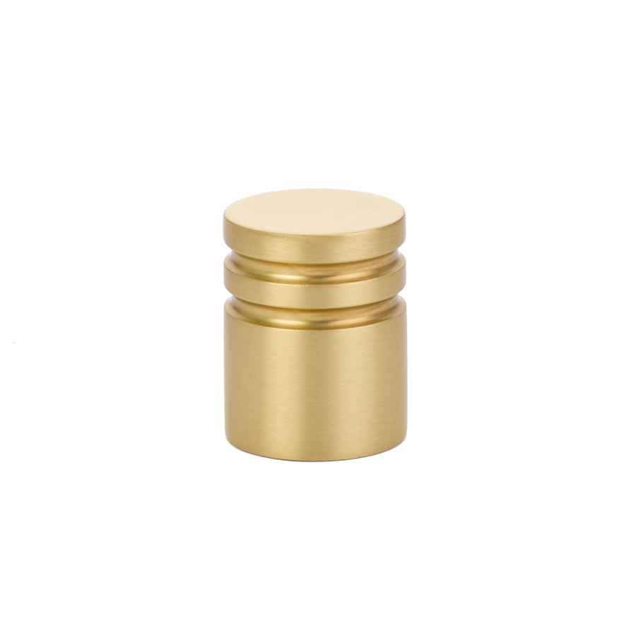 Metric Cabinet Knob In Satin Brass