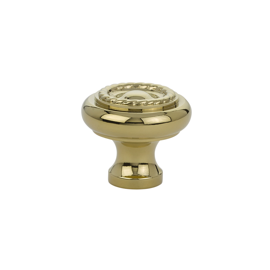 Rope Cabinet Knob In Polished Brass