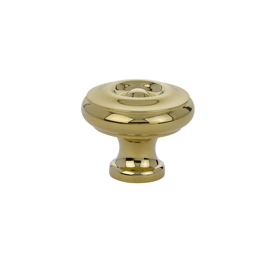 Superior Waverly Cabinet Knob In Polished Brass