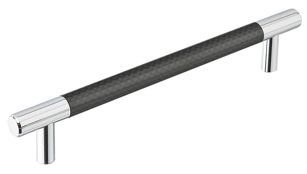 Carbon fiber black bar pull contemporary lock sets cabinet pulls emtek products inc - Contemporary cabinet pulls ...