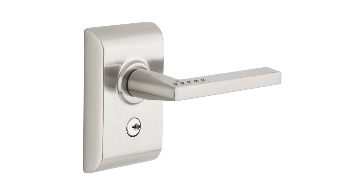 LISCIO: Electronic Door Lock Keypad Leverset | Emtek Products, Inc.