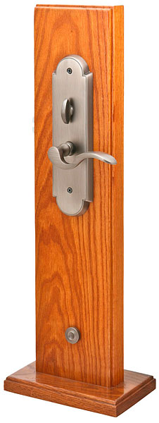 Charleston Br Mortise Entryset With Cortina Lever In Pewter Finish Interior Trim