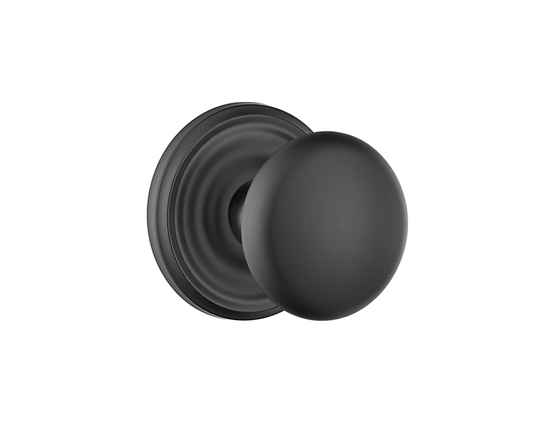 Oil Rubbed Bronze Finish Providence Br With Regular Rosette In Flat Black