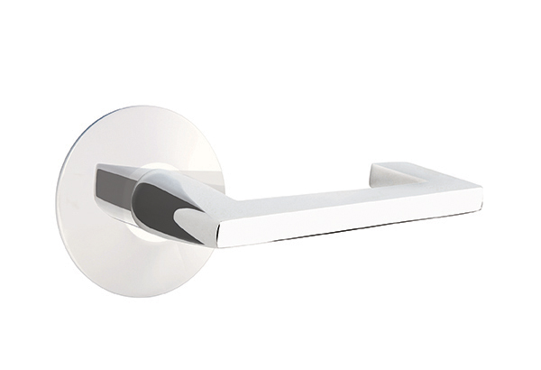 Argos Brass Lever With Modern Rosette In Polished Chrome Finish