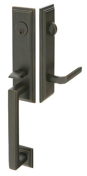 Wilshire Br Tubular Entryset With Milano Lever In Oil Rubbed Bronze Finish