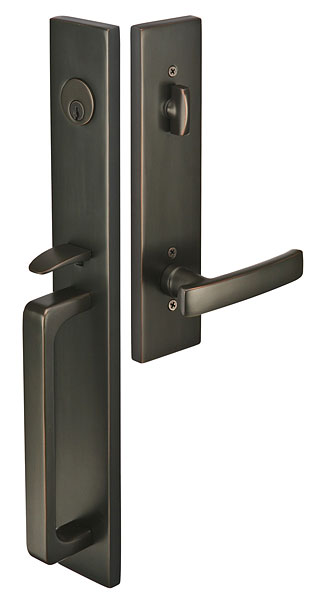 Lausanne Br Tubular Entryset With Geneva Lever In Oil Rubbed Bronze Finish